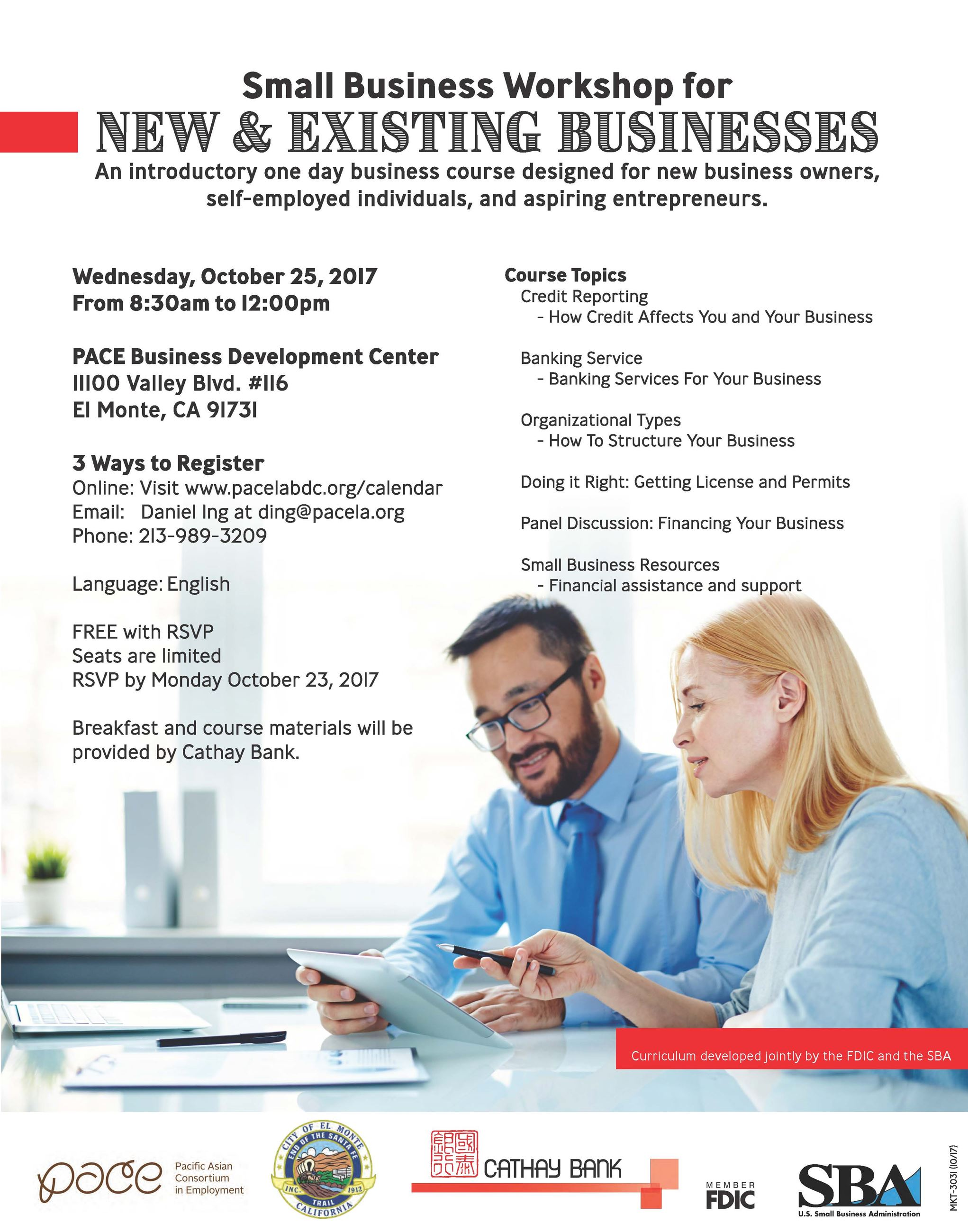 Information for a small business workshop