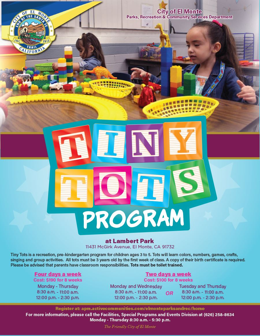 2018 Tiny Tots Flyer