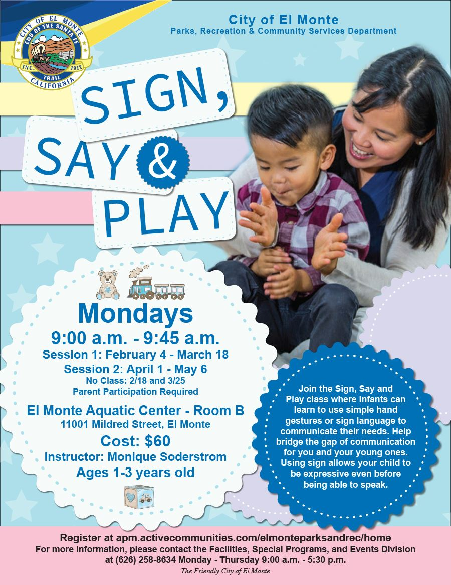 2019 Sign Say and Play Flyer