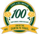 City of El Monte 100th Centennial Anniversary 1912 - 2012 end of the Santa Fe Trail