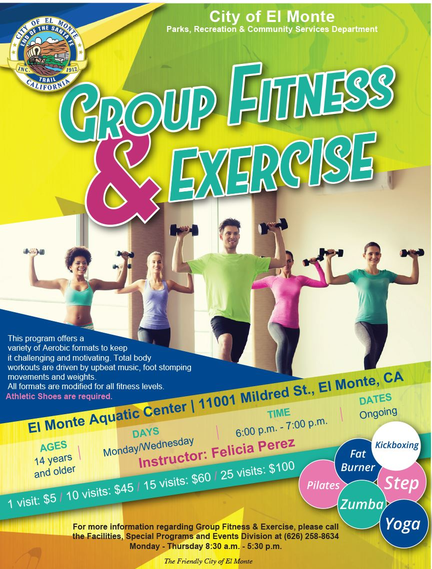2018 Group Fitness Exercise Flyer