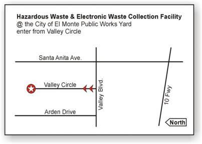 Detailed map of Hazardous Waste & Electronics Waste Collection Facility